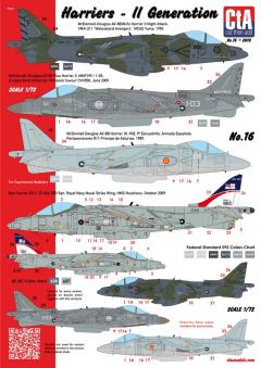 CTA 1/72 Harrier - 2nd Generation (USA, Spain, Italy, UK - 4 Markings)