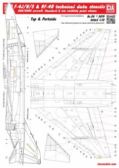CTA 1/72 F-4J/N/S & RF-4B Phantom technical data stencils
